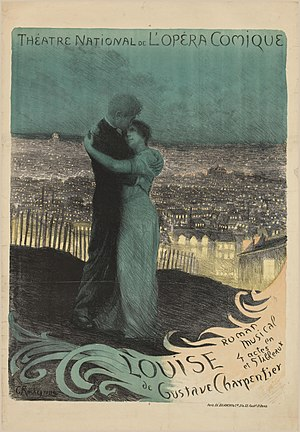 Louise (opera) - Poster by Rochegrosse for the opera's premiere