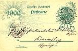 Vykort (brevpapper) av Deutsche Reichspost vid sekelskiftet 1800/1900