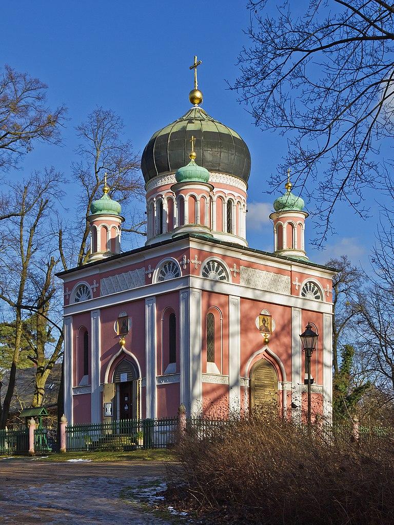 Eglise St Alexander Nevsky dans la colonie russe Alexandrowka à Potsdam © A.Savin, Wikimedia Commons