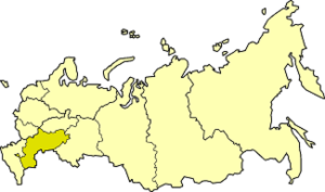 Volga economic region - Volga economic region on the map of Russia