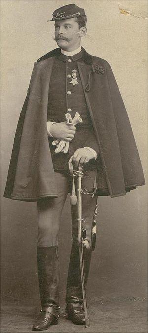 Bear Valley raid - Lieutenant Powhatan Clarke wearing his Medal of Honor sometime before his death in 1893.