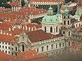 Praha, Petřín, Pohled na kostel svatého Mikuláše z Petřínské věže.JPG
