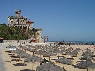 Estoril - The beach of Tamariz, in the central coastal area of Estoril