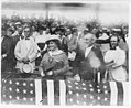 Pres. Woodrow Wilson and wife, Edith Bolling Galt, at ball game LCCN2003663773.jpg