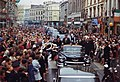 President's Trip to Europe- Motorcade in Dublin. President Kennedy, motorcade, spectators. Dublin, Ireland - NARA - 194227.jpg