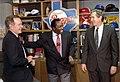 President George H. W. Bush, George W. Bush, and Joe Morgan.jpg