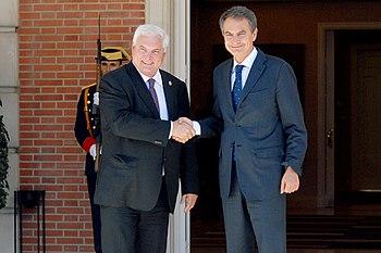 Español: El presidente del Gobierno de España,...