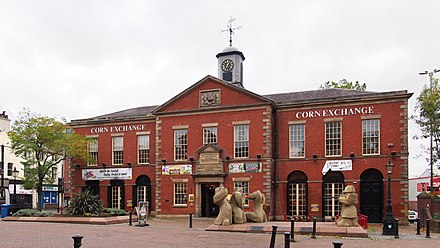 The Corn Exchange, entrance to the former Public Hall, Lune Street Preston Corn Exchange.jpg