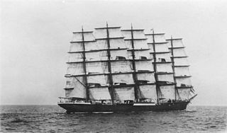 <i>Preussen</i> (ship) German steel-hulled five-masted ship-rigged windjammer sunk in Crab Bay after a collision