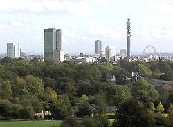 London set fra Primrose Hill
