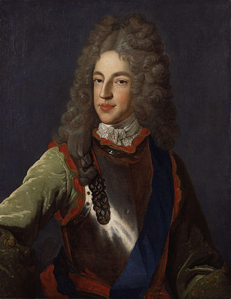 Alexis Simon Belle - Belle's painting of Jacobite pretender James Edward Stuart in armor