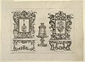 "Print, Designs for Tables, Mirror Frames, Holy Water Stoups and a Clock, Plate 15 from ""Nuove Inventioni d'Ornamenti"", 1698 (CH 18431803-2).jpg"