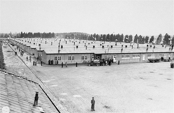 Prisoner barracks at Dachau Concentration Camp, where the Nazis established a dedicated clergy barracks for clerical opponents of the regime in 1940 Prisoner's barracks dachau.jpg