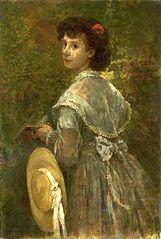 Portrait of artist's sister.