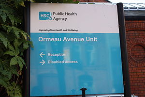 English: Public Health Agency, Ormeau Avenue, ...