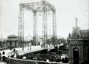 Pueyrredón Bridge - bascule Pueyrredón bridge operated from 1903 to 1931.