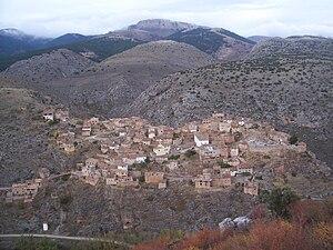 Aranda (comarca) - Purujosa town seen from the Cabezo summit