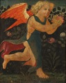 Putto in front of a Hedge of Roses - Nationalmuseum - 19174.tif