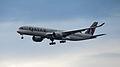Qatar Airways Airbus A350-941 A7-ALA 15.Jan.2015 First commercial service Doha-Frankfurt (16286317315).jpg