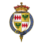 Quartered arms of Sir Thomas de Montacute, 4th Earl of Salisbury, KG.png