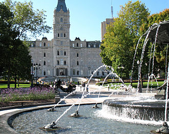 National Assembly of Quebec - The Fontaine de Tourny east of the Parliament Building