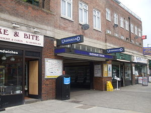 Queensbury tube station - Image: Queensbury station entrance