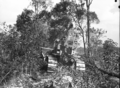 Queensland State Archives 1662 Site preparation and land clearing by bulldozer Serviceton Inala Brisbane c1950.png