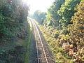 Quimerch 06 La voie ferrée Quimper-Landerneau en tranchée dans le bourg de Quimerch.jpg