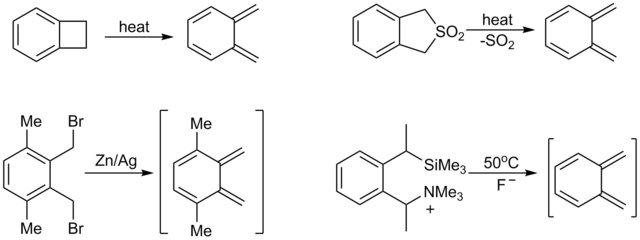Generation of o-quinodimethanes