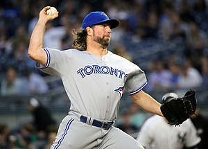 R.A. Dickey - Dickey with the Blue Jays during the 2016 season