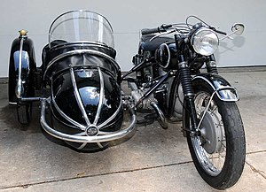 1954 BMW R68 with Steib sidecar