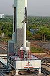 RLV-TD HEX01 at First Launch Pad of Satish Dhawan Space Centre, Sriharikota (SDSC SHAR) before launch 01.jpg