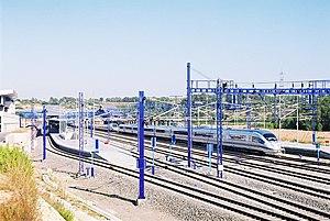 Camp de Tarragona railway station - A Renfe Operadora's AVE Siemens Velaro EMU calling at Camp de Tarragona