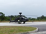 ROCA AH-64E 802 Preparing Take off at Hongchailin Camp 20161224b.jpg