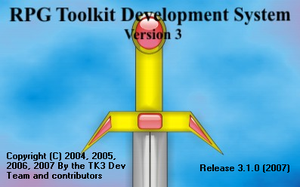 Tela de abertura do RPG Toolkit 3