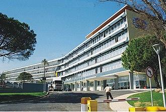 Rádio e Televisão de Portugal - RTP headquarters in Cabo Ruivo, Lisbon.