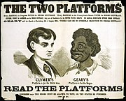 A racist political campaign poster from the 1866 Pennsylvania gubernatorial election