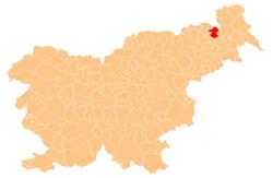 Loko de la Municipo de Gornja Radgona en Slovenio