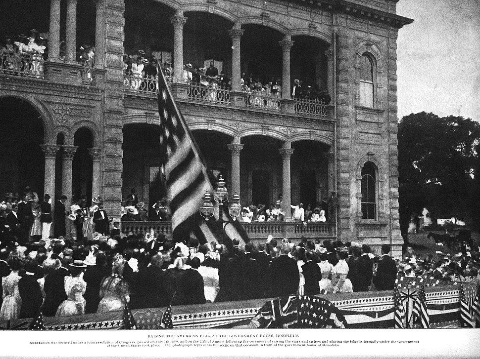 Raising the American Flag Over Iolani Palace