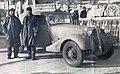 Rallye Monte Carlo 1935, Lahaye et Quatresous au départ de Stavanger.jpg