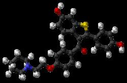 Raloxifene molecule ball.png