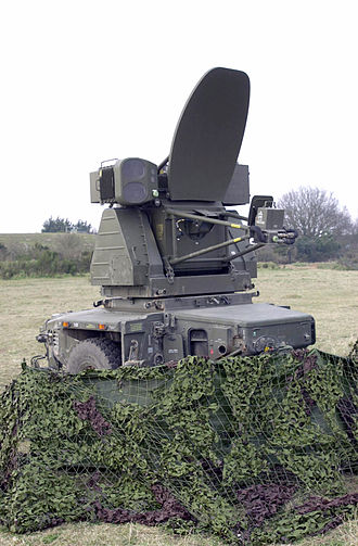 Rapier (missile) - Blindfire radar unit