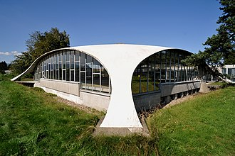 Heinz Isler - Concrete dome roof of a building of the former company Kilcher in Recherswil, (1965)