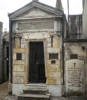 Luis Vernet - Luis Vernet's mausoleum in La Recoleta Cemetery, Buenos Aires.