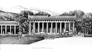 Reconstruction of the tholos (centre) at Epidaurus Wellcome L0008305.jpg