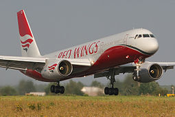 Red Wings Airlinesin Tupolev 204-100.
