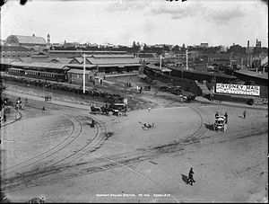 Redfern, New South Wales - An historical view of Redfern Railway Station