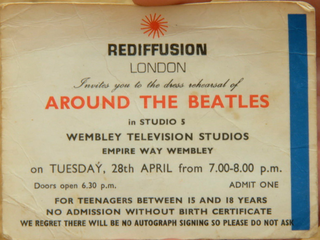<i>Around the Beatles</i> 1964 television special featuring the Beatles, produced by Jack Good for ITV/Rediffusion London