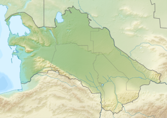 Panjdeh incident - Image: Relief Map of Turkmenistan