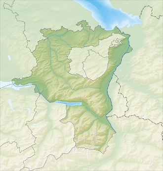 Reliefkarte St. Gallen blank